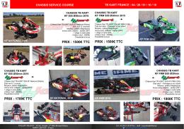 Ventes châssis service course TB Kart France
