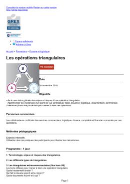 Grex - Les opérations triangulaires