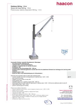 Drehkran 550 kg