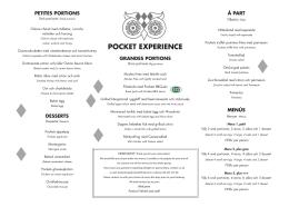 pocket experience