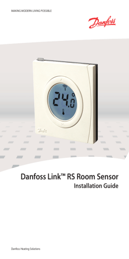 Danfoss Link™ RS Room Sensor