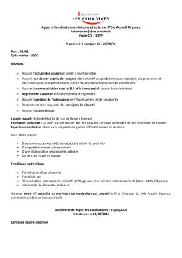 160808 Appel candidature interne-externe IP - CUI