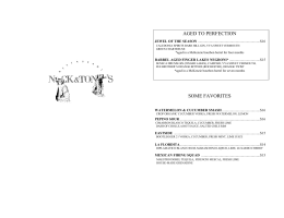WINE LIST - Nick And Toni`s