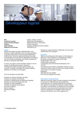 Développeur logiciel