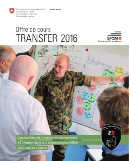 transfer 2016 - Schweizer Armee