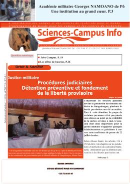 Téléchargez le quotidien Sciences-Campus Info n°99 du jeudi 28