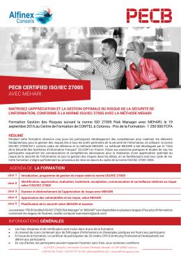 Gestion des Risques selon ISO 27005 le 19 sept 16