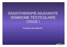 radiotherapie adjuvante radiotherapie adjuvante seminome