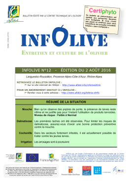 Infolive certiphyto n° 12 du 02/08