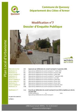 Modification n°7 Pièce n°1
