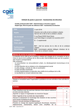 2016-33 DVCU - Assistant-e de direction