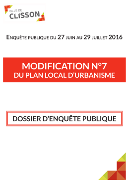 MOdiFiCatiOn n°7 - Ville de Clisson