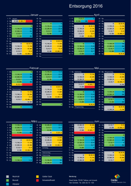 Entsorgungskalender 2016