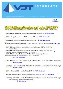 VDT Info-Blatt Juli 2016