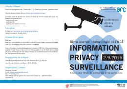 information, privacy et surveillance - Haute