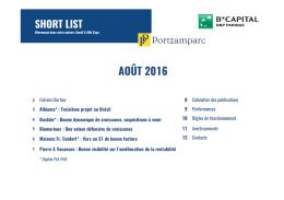 AOÛT 2016 - B*capital