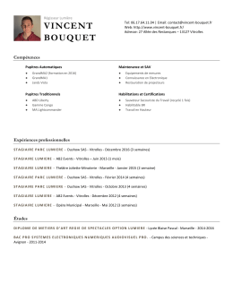CV PDF - Vincent BOUQUET