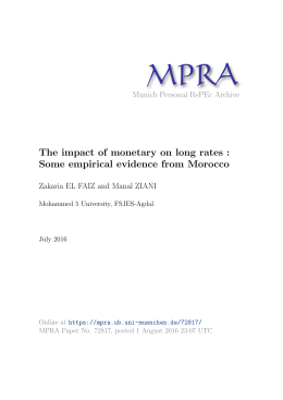 The impact of monetary on long rates