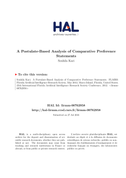 A Postulate-Based Analysis of Comparative - Lirmm