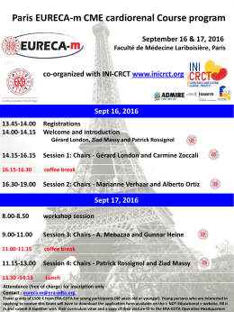 Paris EURECA-m CME cardiorenal Course program