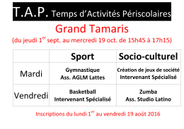 Sport Socio-culturel - Espace