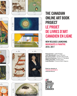 the canadian online art book project le projet de livres d`art