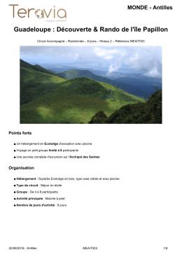 Télécharger la fiche détaillée Guadeloupe : Découverte