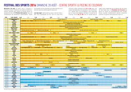 Programme complet du Festival des sports 2016
