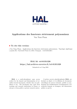 Applications des foncteurs - Tel