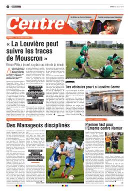 « La Louvière peut suivre les traces de Mouscron »