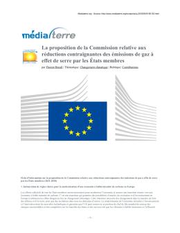La proposition de la Commission relative aux