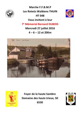 Marche FFBMP Les Roteûs Waibiens THUIN HT 048 Vous invitent à