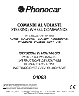 comandi al volante steering wheel commands