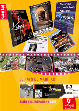 guide animations pays de mauriac 2016