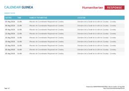Calendar Guinea   HumanitarianResponse