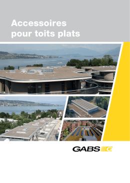 Accessoires pour toits plats