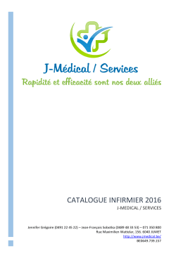 Catalogue Infirmier Août 2016