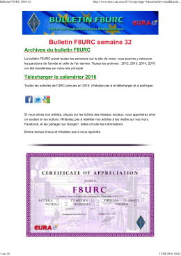 Bulletin F8URC 2016-32