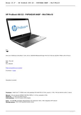 """Ecran 15.6"""" : HP ProBook 450 G3 - P4P04EAR #ABF - PC-Euro"""