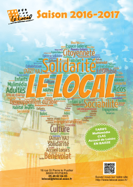 Saison 2016-2017 - Bienvenue au centre socio culturel Le Local
