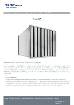 Type XSA - TROX France