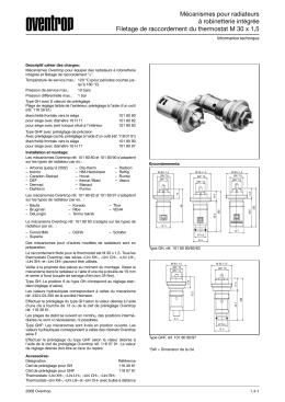 Mécanismes pour radiateurs à robinetterie intégrée