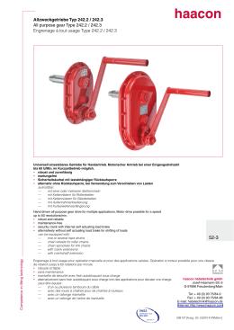 Allzweckgetriebe Typ 242.2 / 242.3 All purpose gear Type 242.2