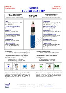 Feltoflex TMP submersible - Câbles Industriels de Champagne