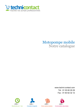 Motopompe mobile Notre catalogue - Techni