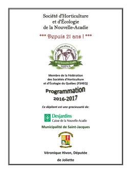 dépliant 2016-2017 - Municipalité de Saint