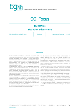 COI Focus - Refworld