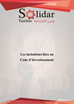 Les incitations liées au Code d`Investissement