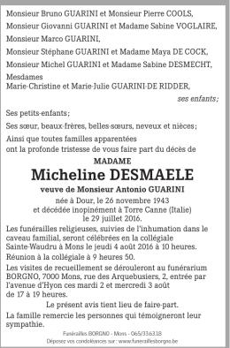 Micheline deSMaeLe