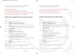 Einladung Bundesstaat - Parlament der Deutschsprachigen